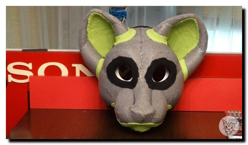 fursuit head during the manufacturing process
