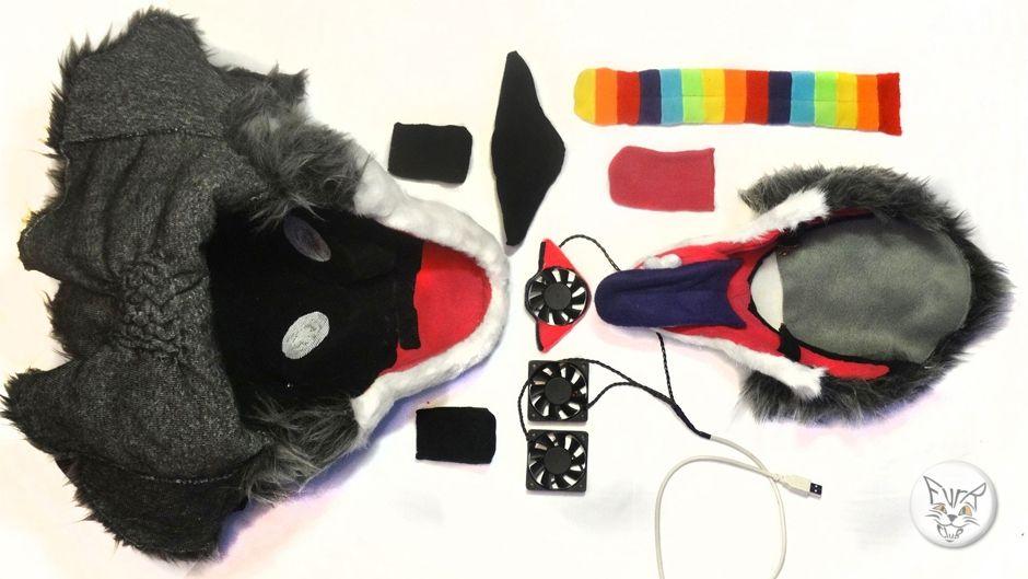 Wolf Lux full fursuit