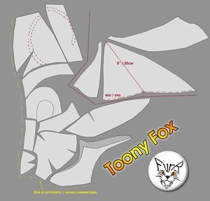 Toony Fox heads scan