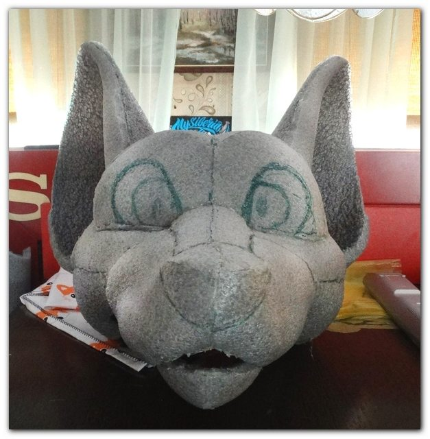 "Head ""Toony Fox"" fo fursuit Lux"