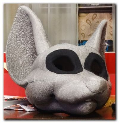 The frame for the eyes fursuit