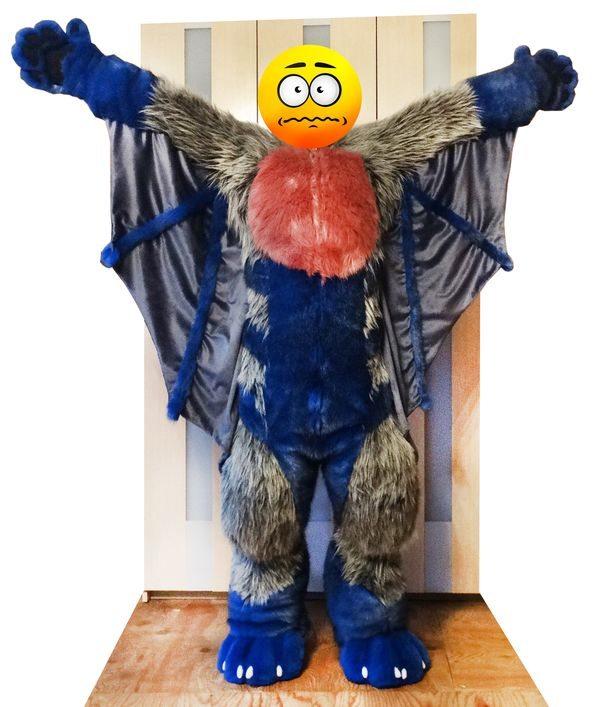#bat wings #fursuits overalls #furr.club #fursuit Koomoe