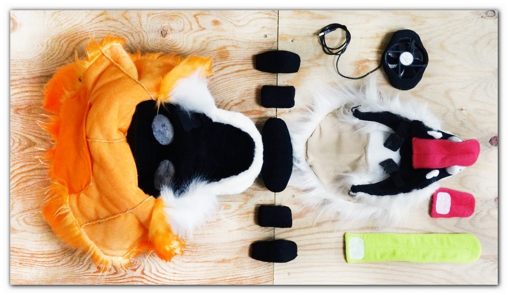 Fursuit's head construction