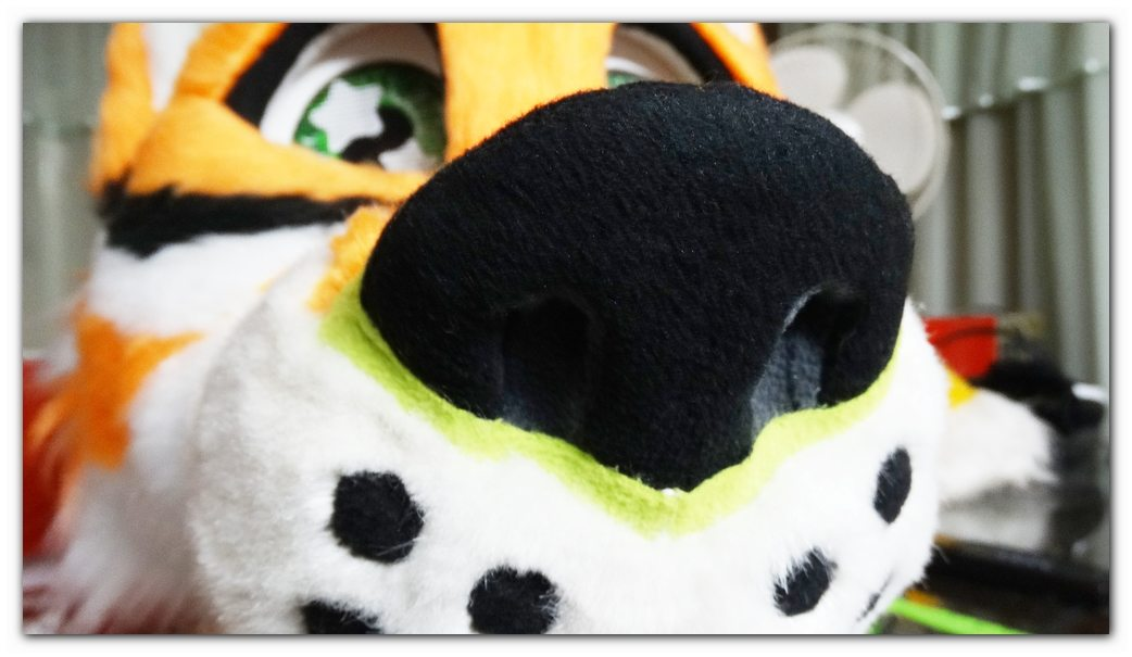 Nose of fursuit