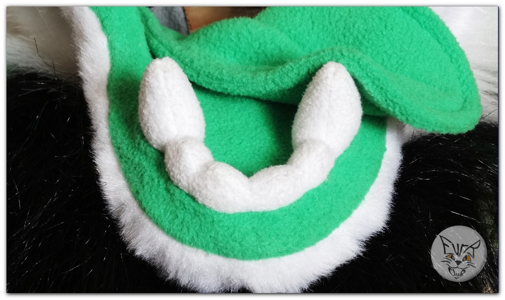 #FurRCluB #Grayish_Green_Dog_Fursuit #Manufacturing of teeth