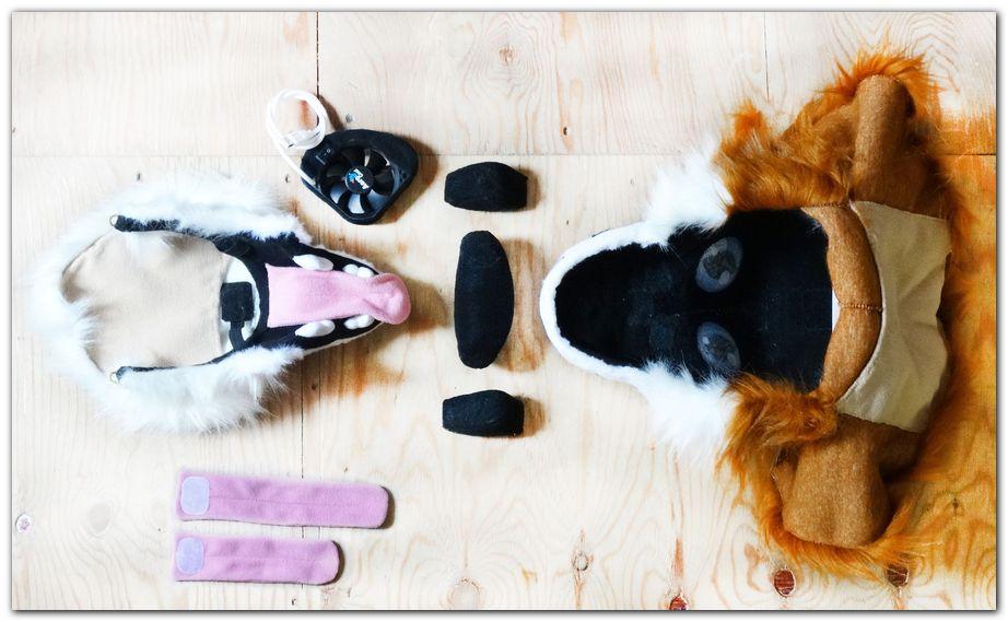 Fursuit's head construction #foxfursuit #furr_club #fursuit