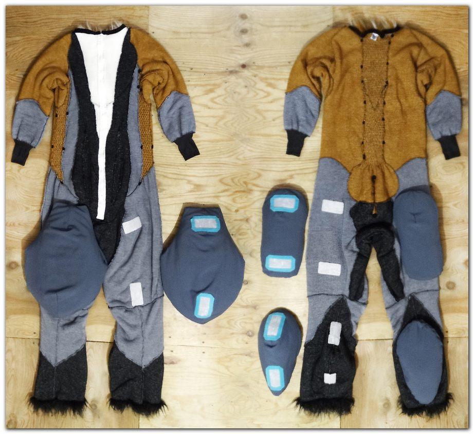 Overalls for Woflie Fox fursuit project #foxfursuit #furr_club #fursuit