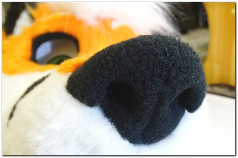 Nose of fursuit #Tzyko #foxfursuit #furr_club #fursuit #furrclub