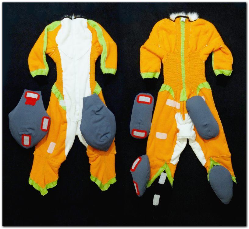 Overalls for Fox fursuit project #Tzyko #foxfursuit #furr_club #fursuit #furrclub