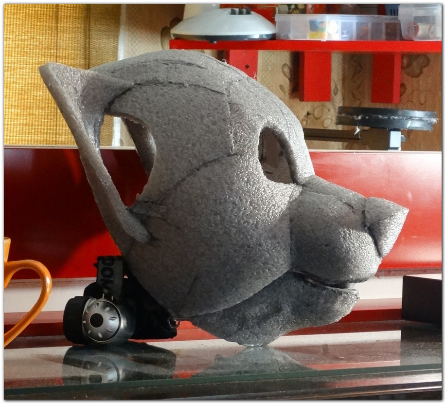 Headbase for Red Panda fursuit project #pandafursuit #furr_club #fursuit