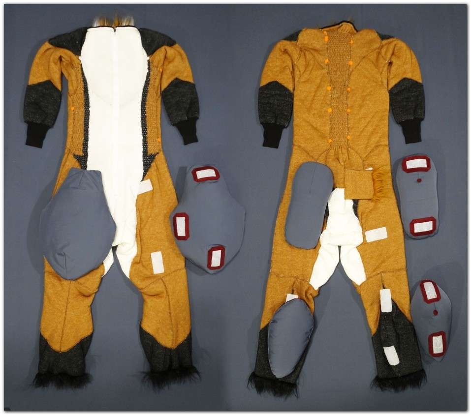 Overalls for Classic Fox v2 fursuit project #Foxfursuit #furr_club #fursuit