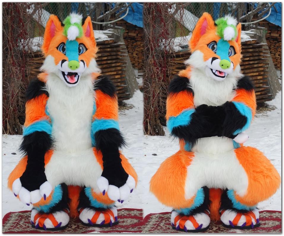 Pinkpaws Fox fursuit