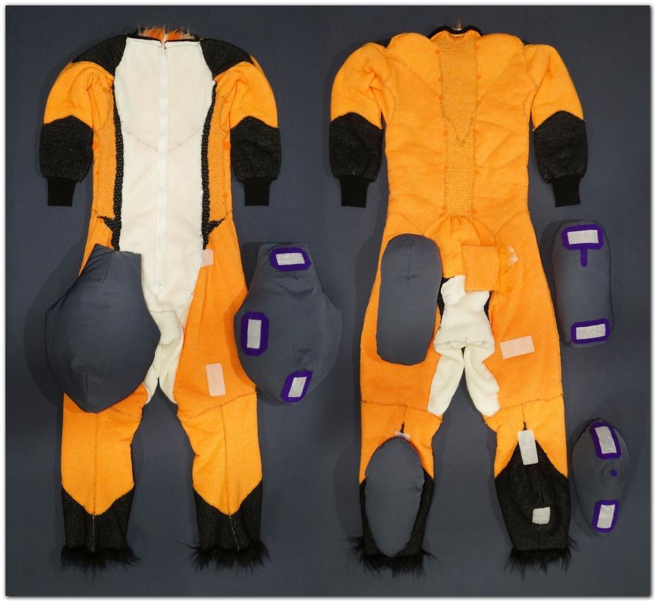Overalls for Violetpaws Fox fursuit project #Foxfursuit #furr_club #fursuit