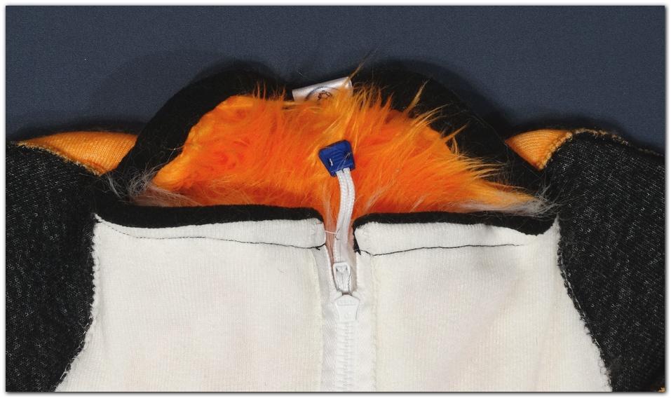 The collar of Violetpaws Fox fursuit project #Foxfursuit #furr_club #fursuit