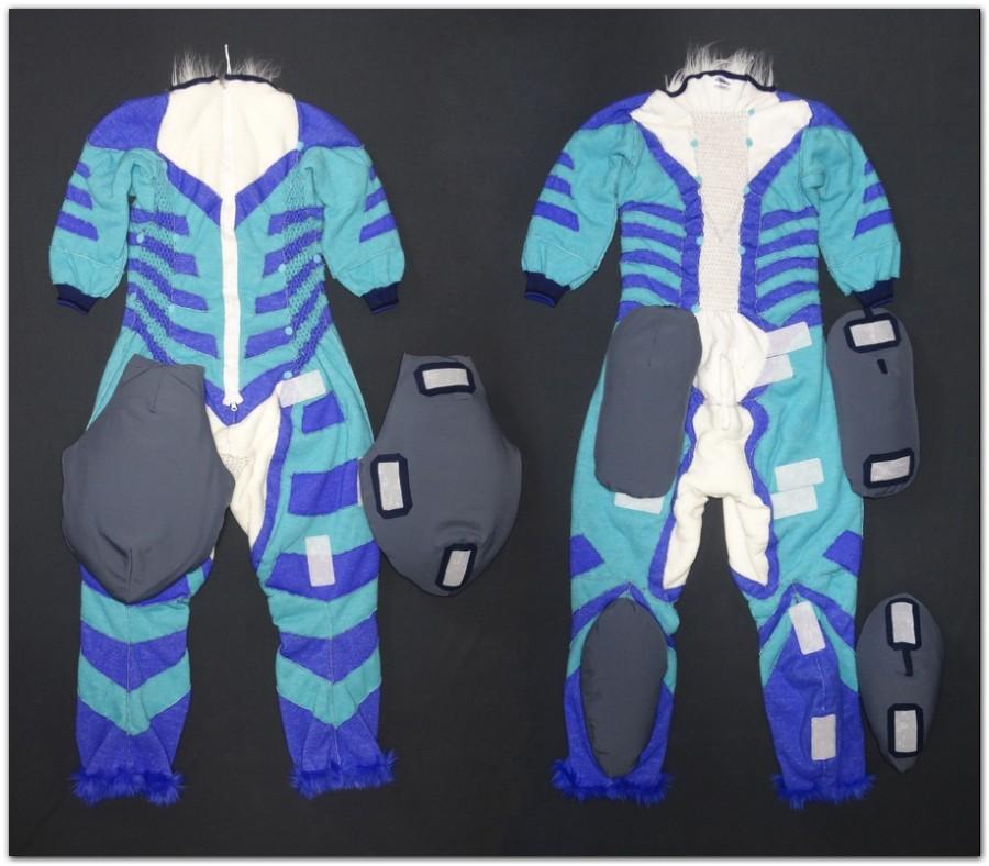 Overalls for Hyena fursuit project #Hyenajumpsuit #furr_club #fursuit