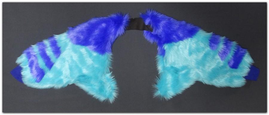 Hyena jumpsuit cuff sleeve_inside #Hyenajumpsuit #furr_club #fursuit