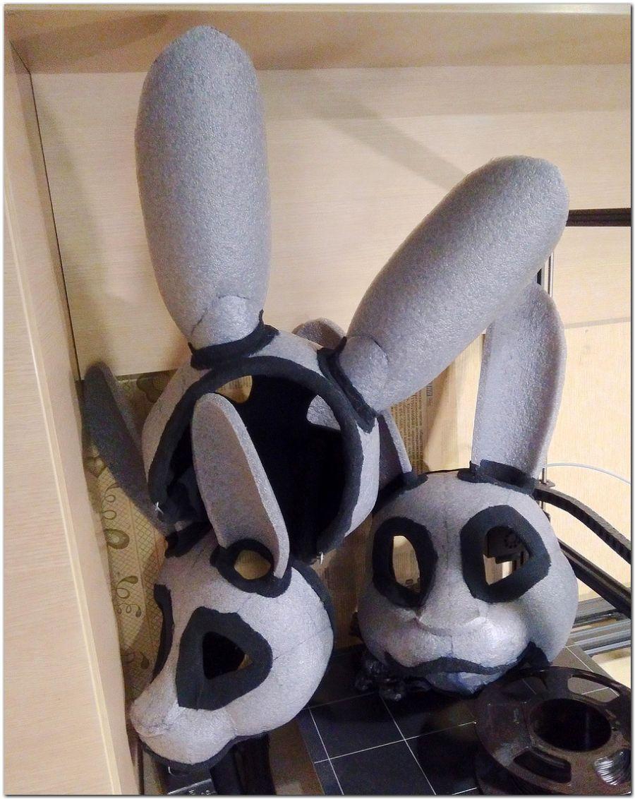 Headbase for Fox fursuit project #Hare-KDub-Harefursuit #furr_club #fursuit