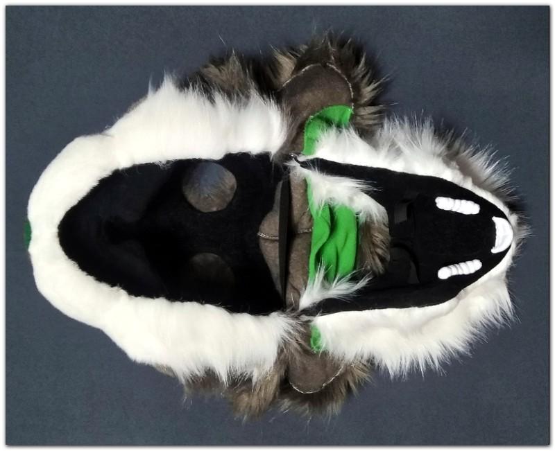 Mask of fursuit in the open position #Thumper-The-Hare-fursuit #furr_club #fursuit